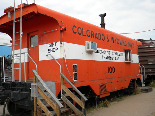 Preserved Colorado & Wyoming Railroad locomotive simulator car used for training purposes.  The Pueblo Railway Museum.  Pueblo Colorado USA.  2011. by Eddie from Chicago