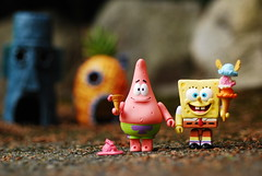 Meanwhile, down at the Bikini Bottom... (Grana Padano!) Tags: toys kubrick rement spongebobsquarepants bikinibottom patrickstar