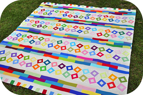 Hollow Blocks Quilt Top