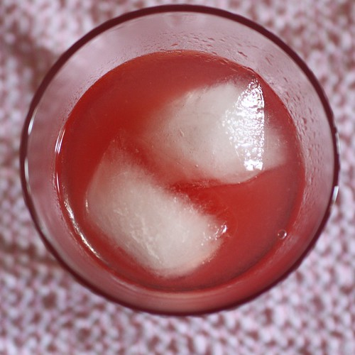 Ice in Watermelon Lemonade