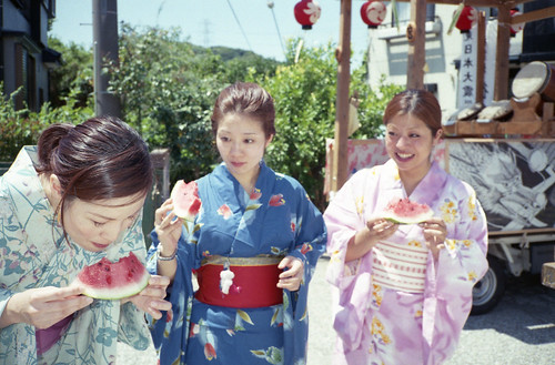 綿(Summer cotton kimono)