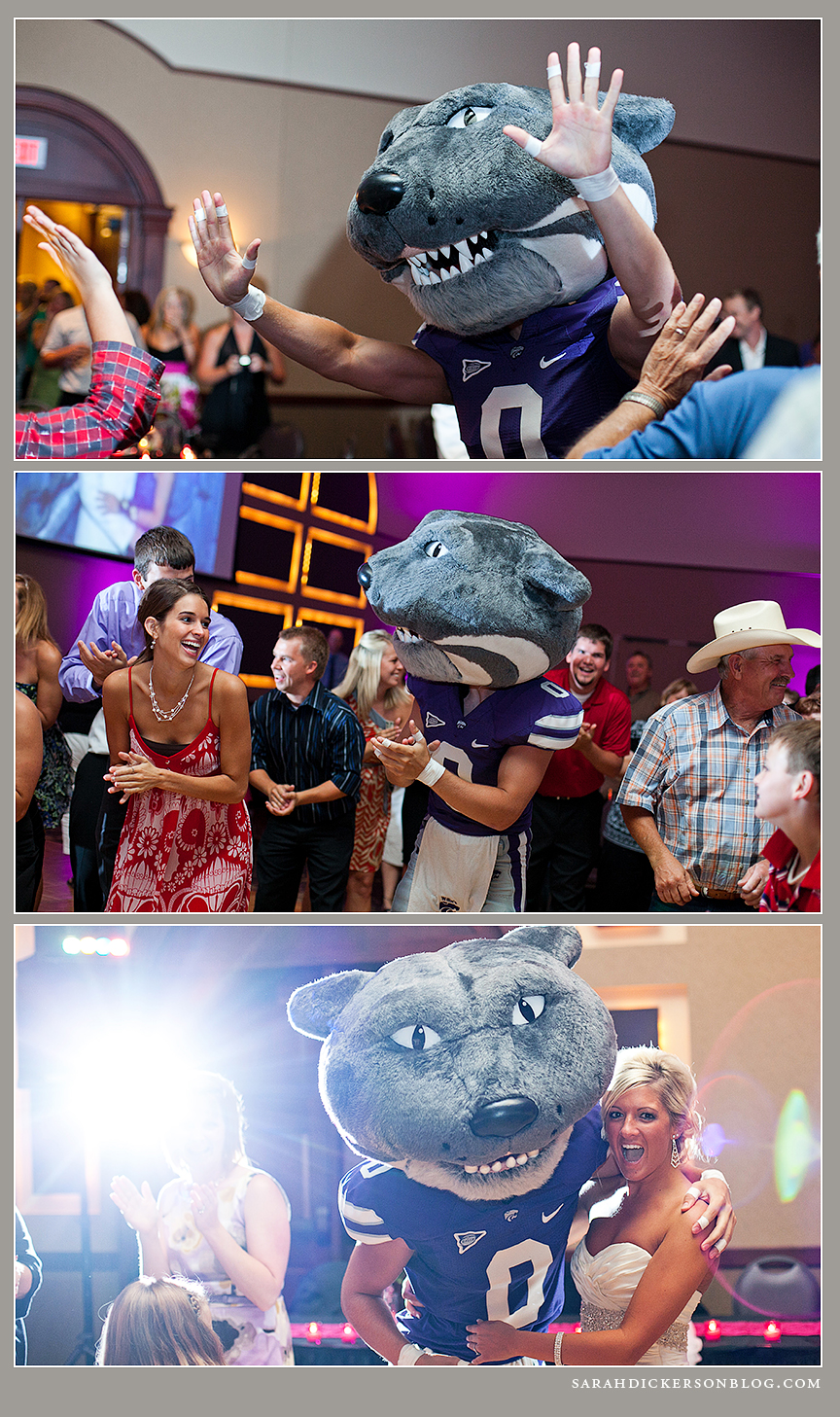 KSU Alumni Center Manhattan Kansas wedding reception photographer