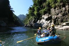 Jungle river banks on the Kameng river Adventure rafting and Kayaking trip