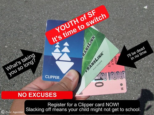 Muni Paper Pass Switch to Clipper Card Youth