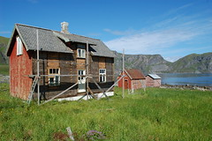 Work in progress (~Ranveig Marie~) Tags: pictures ocean wood old travel sea summer sky sunlight house mountain building home nature colors grass norway wall architecture buildings landscape outdoors island norge wooden colorful colours village photos pics hiking walk natur working norwegen conservation himmel bluesky images hike norwegian tur nostalgia photographs nostalgic noruega restoration nordic blueskies colourful traveling scandinavia woodenhouse paysage nordnorge archipelago restaurert naturewalk fjelltur norsk lofotenislands nordland skjrgrd mstad vry restaurering fottur friluft northernnorway visitnorway skjrgard mostad skjergard ranveigmarienesse ranveignesse