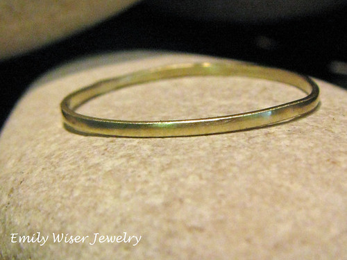 14k green gold stackable ring by EmilyWiserJewelry2011