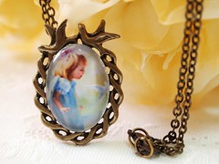 Little Girl and Dove Necklace (The Little Corner) Tags: christmas xmas blue autumn sky baby bird fall classic love childhood women peace singing sweet handmade turquoise pigeon country victorian adorable jewelry romance retro fairy homemade fantasy sparrow memory kawaii nostalgic romantic dreamy casual sweetheart resin etsy tweety lovebird greeting beloved oval breezy pendant olddays vintagestyle classy songbird tweet accessory filigree artfire etsycom antiquebrass wonderfulworld