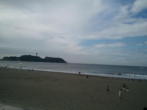 左を見れば江の島