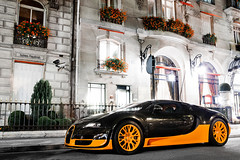 Bugatti Veyron SuperSport World Record Edition Preserie 2.3 (Valkarth) Tags: world auto plaza 2 summer paris france car night canon eos noche mark voiture arab ii coche record l mk2 5d 23 usm q edition bugatti qt nuit f28 supercar mk ete qatar mkii veyron markii supersport mark2 2470mm qtr 2011 2470 qatari hypercar preserie