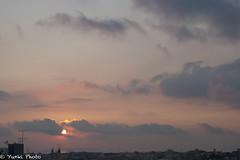 Today's SunSet (yu*ki) Tags: sunset nikon d70