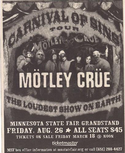 08-26-05 Motley Crue @ MN State Fair, St. Paul, MN