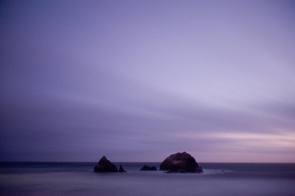 Violet seal rocks