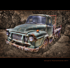 Old Truck (Descended from Ding the Devil) Tags: abandoned portugal truck nave algarve hdr 3exposures