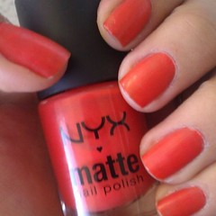 Diggin' the matte orange polish I picked up at Indie Mart yesterday!