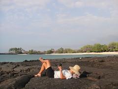 ハワイ島で本を読む