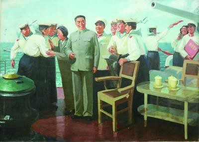 "《周总理和水兵》 孙延政 - ""Premier Zhou and the sailors"" by Sun Yanzheng"