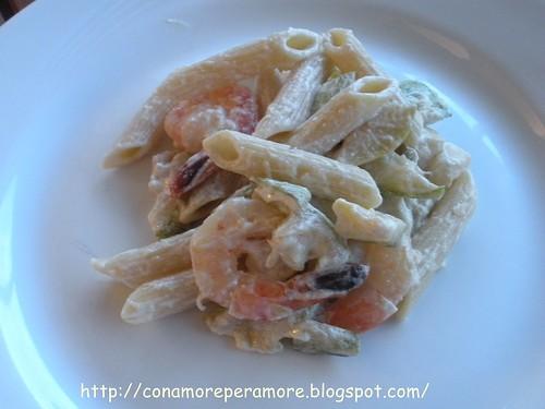 pasta gamberetti e zucchine1