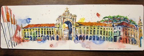 32nd World Sketchcrawl - Praca Do Comercio