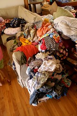 Tuesday: piles of laundry