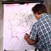 Matt Groening drawing Popeye