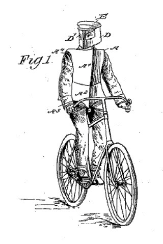 Bicycle Body Shield Patent, 1896