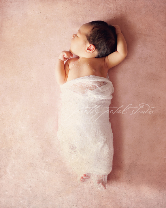 newborn girl photo session
