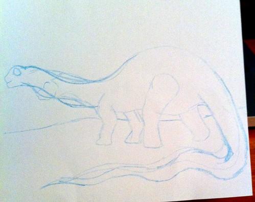 Apatosaurus sketch