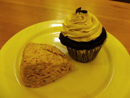 Cupcake and Scone from Mud Pie Bakery