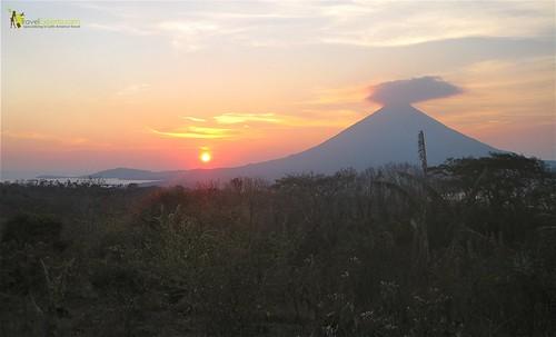 Sun Setting Ometepe Island Nicaragua