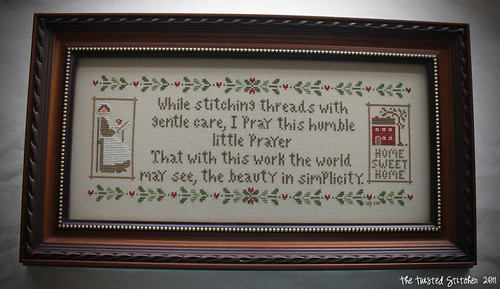 Stitchers Prayer with signature