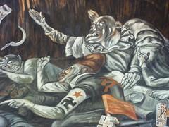 (sftrajan) Tags: art méxico mexico 1930s mural clown nazi swastika guadalajara jalisco stairwell communism fascism orozco ideology joséclementeorozco palaciodegobierno nazism muralismo muralism mexicanhistory historiamexicana mexicanmuralists