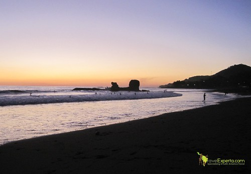 Playa Tunco Volcanic Beach El Salvador Sunset 3