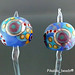 Earring : Pair Dot Line Colorful
