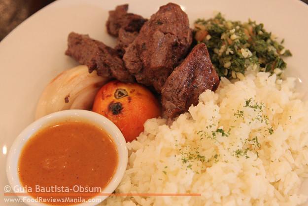 Cafe Mediterranean Grilled Beef Kebab