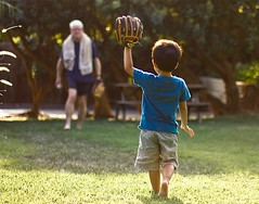 The Boys of Summer (Boys and Bees) Tags: family summer baseball glove catch boysofsummer parentandchild grounders flyballs linedrives