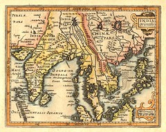 1609 - South and Southeast Asia from 'Atlas Minor' by Gerard Mercator and Jan Hondius (with later hand color)