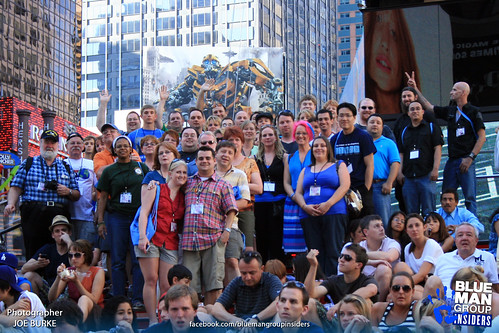 Fans Gathered in Times Square for a group photo.
