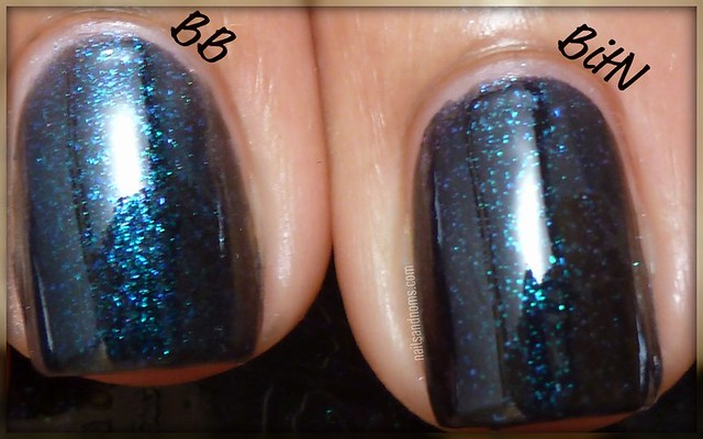 Barielle - Blackened Bleu vs. Nicole by OPI - Blues In The Night