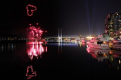 Fireworks at Docklands - Love in the air (kth517) Tags: winter fireworks australia victoria docklands 冬天 煙火 澳洲 墨爾本
