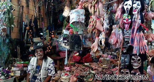 Scary masks stall at Chatuchak Market