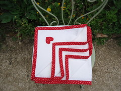 Baby flannel blankie red dots (ZiKiarts) Tags: red usa baby paris france green basket quilt iran buttons sewing crafts polka fabric cotton blanket flannel blankie quilts dots patchwork binding 2012 joanns zardkuh bazoftforever bazoft couvrelit zikiarts