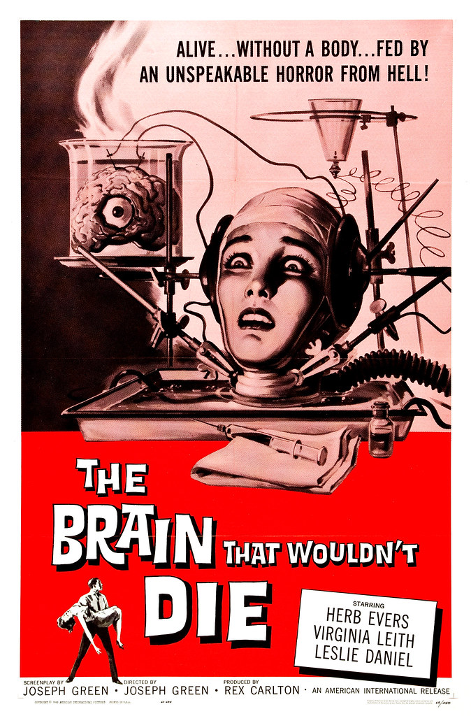 Reynold Brown - The Brain That Wouldn't Die (American International, 1962)