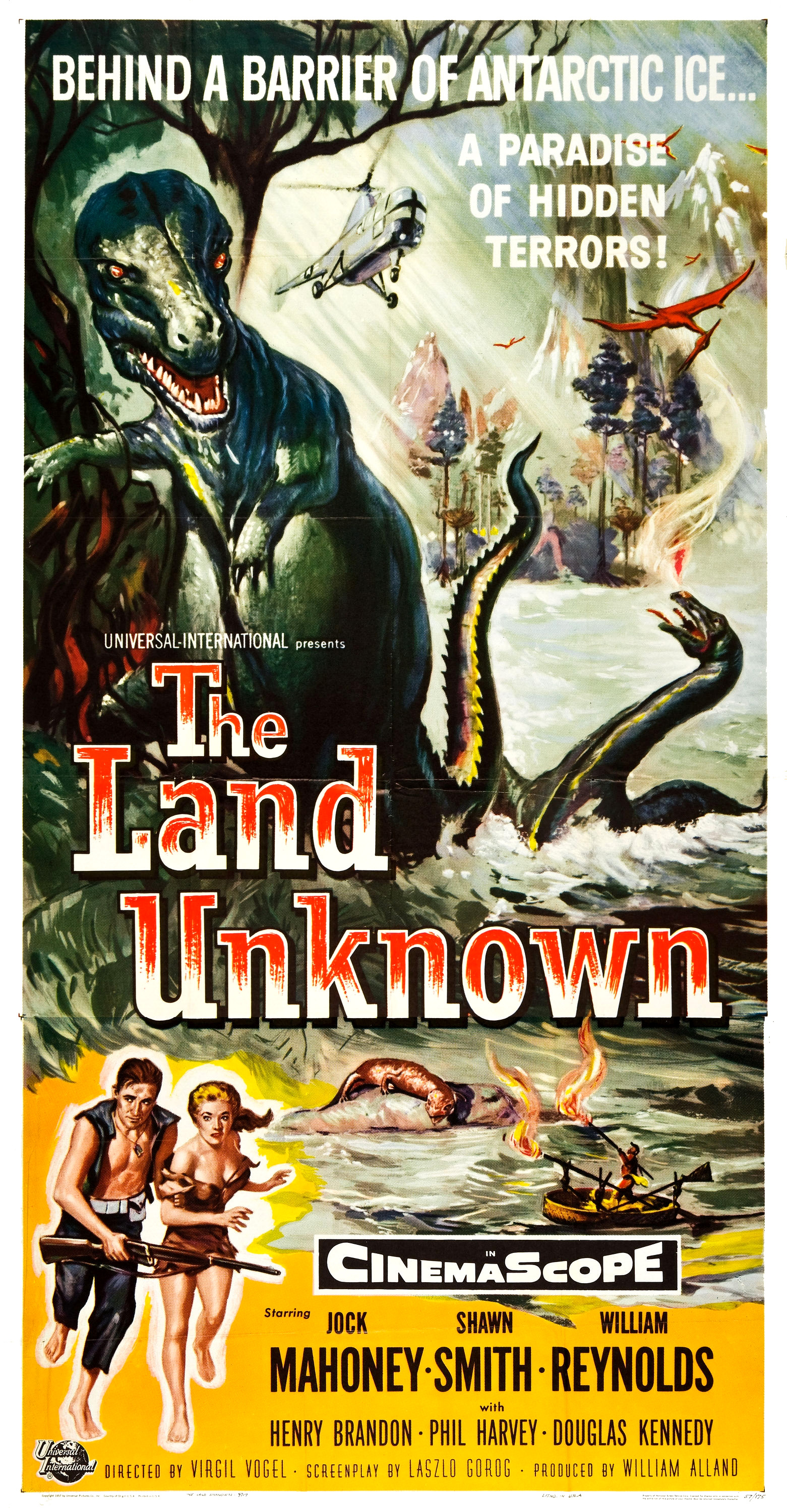 Reynold Brown - The Land Unknown (Universal International, 1957) Three Sheet