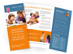 Dialogic Reading Brochure (ben.bibikov) Tags: blue orange reading parents design graphic library libraries idaho parent brochure trifold dialogic bibikovacom sharedreading bibikov