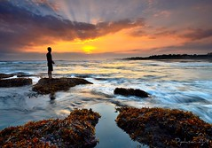 One day will be....... (Dyahniar Labenski) Tags: sunset bali man happy nikon alone peaceful sunrays lookforward niar 1024mm d7000 ikniroviolet dyahniar