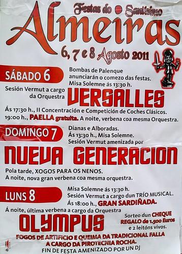 Cambre 2011 - Festas do Santísimo en Almeiras - cartel