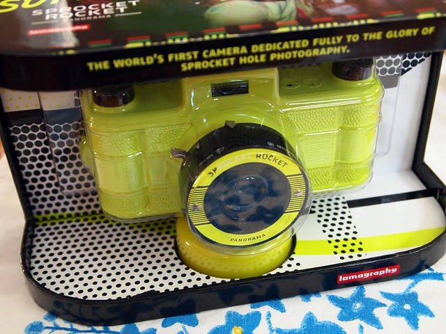the yellow sprocket rocket in box