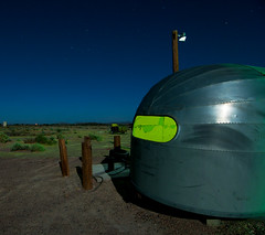 Alien Airstream (Noel Kerns) Tags: california abandoned night 66 route springs trailer airstream newberry