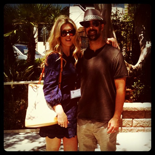 The husband and I today at #blogher11 @blogherstyle