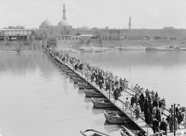 Baghdad. The Katah Bridge. Over the Tigris River - circa early 1930's